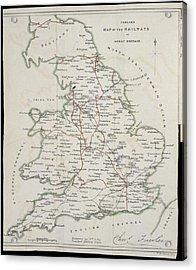 Railway Map Acrylic Print