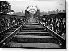 Railway Tracks Acrylic Print by Sanjeewa Marasinghe