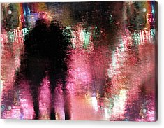 Rain Above The Funfair Acrylic Print