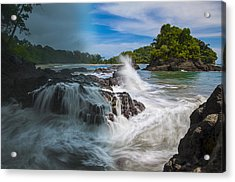 Rain And Shine At Manuel Antonio Beach Acrylic Print