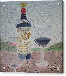 Rain And Wine Acrylic Print by Angela Melendez