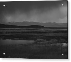 Acrylic Print featuring the photograph Rain At The Marshes by Jenessa Rahn