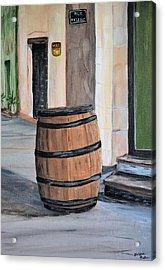 Rain Barrel Acrylic Print