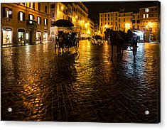 Rain Chased The Tourists Away... Acrylic Print