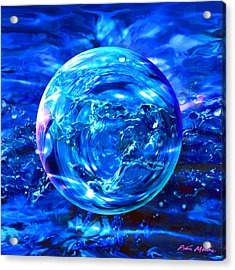 Acrylic Print featuring the painting Rain Dance  by Robin Moline
