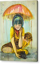 Acrylic Print featuring the painting Rain Day  by Angelique Bowman