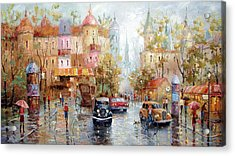 Rain Acrylic Print by Dmitry Spiros