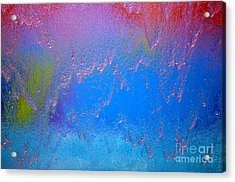 Rain Drops Abstract Acrylic Print