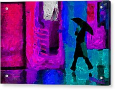 Rain In January Tnm Acrylic Print by Vincent DiNovici