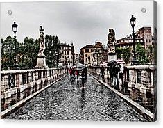 Rain In Rome Acrylic Print by Francesco Zappala