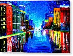 Rain In The City Acrylic Print