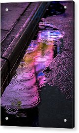 Rain In The Street Acrylic Print by Garry Gay