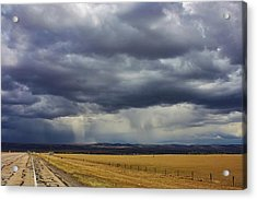 Rain In Wyoming Acrylic Print by Bruce Bley