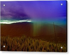 Rain North Of Bonners Ferry Acrylic Print by Jeff Swan