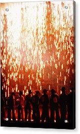 Rain Of Fire Acrylic Print