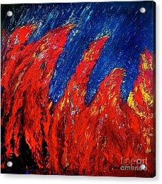 Rain On Fire Acrylic Print