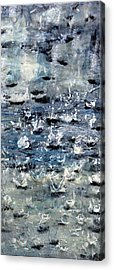 Rain On Gray's Harbor Acrylic Print