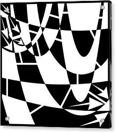 Rain On The Windshield Maze  Acrylic Print