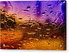 Rain On Windshield Acrylic Print