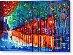 Rain Reflection Acrylic Print