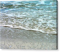 Rain Sea  Acrylic Print by Oleg Zavarzin