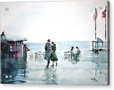 Acrylic Print featuring the painting Rain Serenad - Moments Of Life... by Faruk Koksal