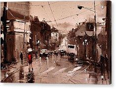 Rain Acrylic Print by Timorinelt Tryptykieu