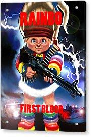 Rainbo First Blood Acrylic Print by Tim Myers