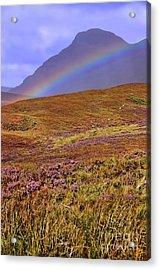 Rainbow And Heather Acrylic Print