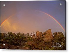 Rainbow At Chiricahua Acrylic Print by Keith Kapple