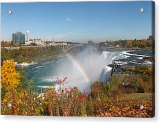 Rainbow At The American Falls Acrylic Print