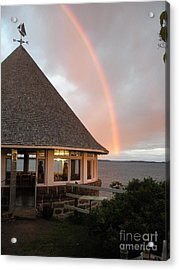 Rainbow At The Bath House Minister Island Nb Acrylic Print