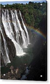 Rainbow At Victoria Falls Acrylic Print by Aidan Moran