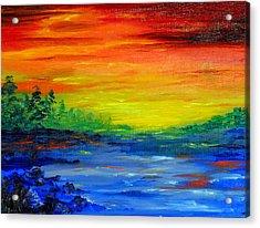 Rainbow Back Waters Acrylic Print