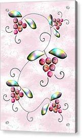Rainbow Berries Acrylic Print by Anastasiya Malakhova