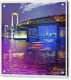 Rainbow Bridge At Night Acrylic Print by Stefano Senise