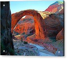 Rainbow Bridge National Monument Acrylic Print by Wernher Krutein