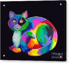 Rainbow Calico Acrylic Print by Nick Gustafson