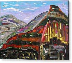 Rainbow Canyons Acrylic Print by Mary Carol Williams