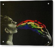 Rainbow Acrylic Print by Carin Billings