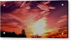 Acrylic Print featuring the photograph Rainbow Clouds by Candice Trimble