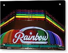 Rainbow Club Neon Acrylic Print