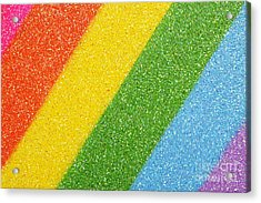 Rainbow Colors On Top Of A Box Acrylic Print