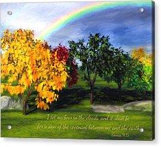 Rainbow Covenant Genesis Acrylic Print