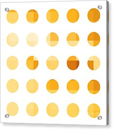 Rainbow Dots Orange Acrylic Print by Pixel Chimp