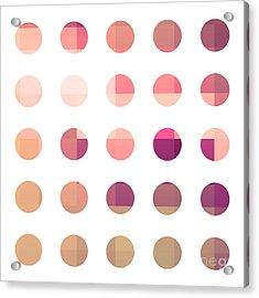 Rainbow Dots Rose Acrylic Print by Pixel Chimp