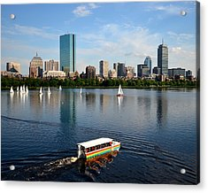 Rainbow Duck Boat On The Charles Acrylic Print