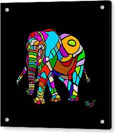 Rainbow Elephant Acrylic Print by Anthony Mwangi