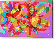 Rainbow Explosion Acrylic Print