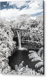 Rainbow Falls In Infrared 1 Acrylic Print